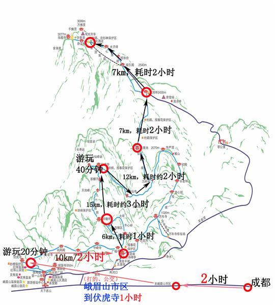 旅游攻略 > 徒步登金顶时间及沿途介绍(图)   点击查看大图:峨眉山